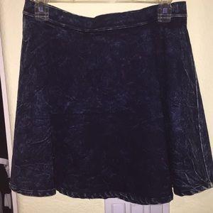 Acid Wash Skater Skirt
